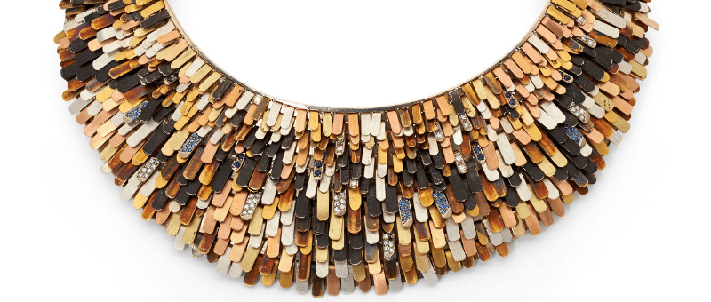 Jason Ree's necklace 'Lepidoptera' from the 2014 JAA Australasian Jewellery Awards